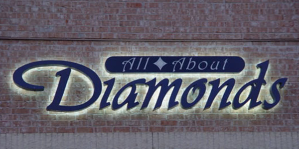 Diamonds - Illuminated Sign